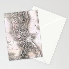 Vintage Map of Italy (1814) Stationery Cards