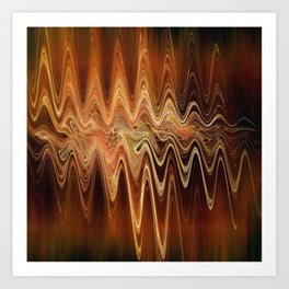 Earth Frequency Art Print