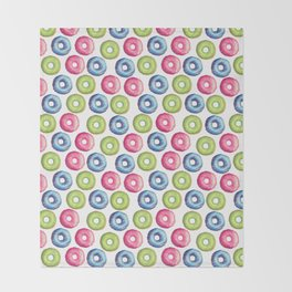 Donuts 2 Pattern Throw Blanket