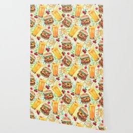 burgers, juices & fries Wallpaper