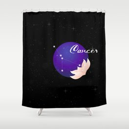 Cancer Stars Shower Curtain