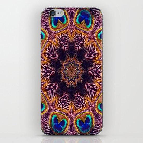 Peacock Fan Star Abstract iPhone & iPod Skin