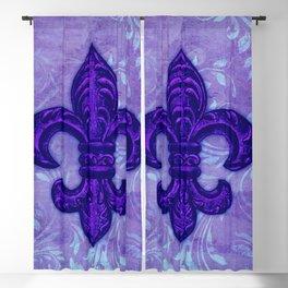 Purple Fleur de Lis Blackout Curtain