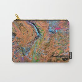 Fluid Copper - Abstract, original, fluid, acrylic painting Carry-All Pouch