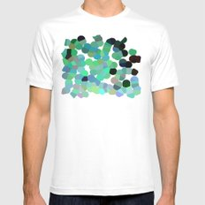 The Emerald Isle MEDIUM White Mens Fitted Tee