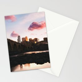 Minneapolis Skyline Sunset Stationery Cards