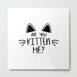 You Kitten Right? Metal Print
