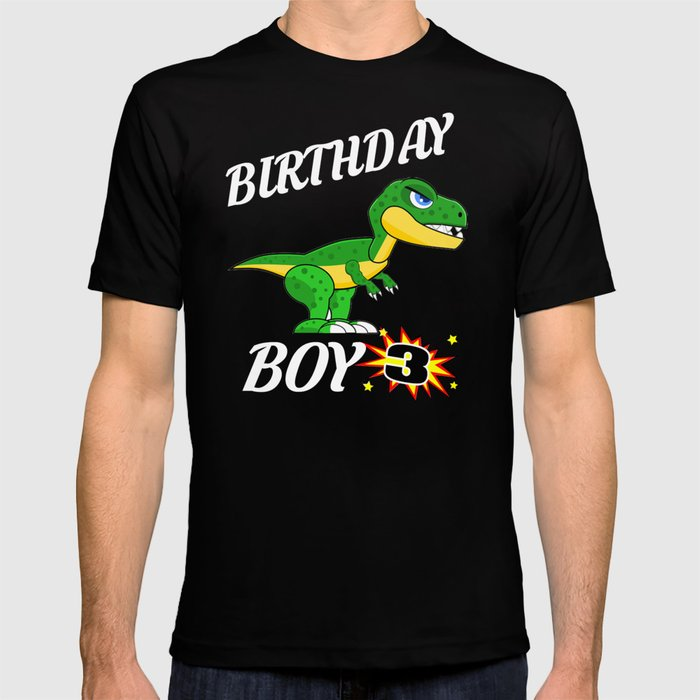 3 Years Old Birthday Design Dinosaur GifDesign T Shirt