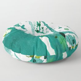 emerald green splash Floor Pillow