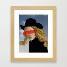 Das Mädchen mit dem Hut Framed Art Print