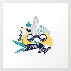 EXPLORE.DREAM.DISCOVER Art Print