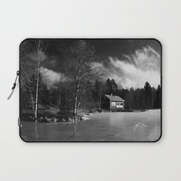 Sauna on a Finnish Lake Laptop Sleeve