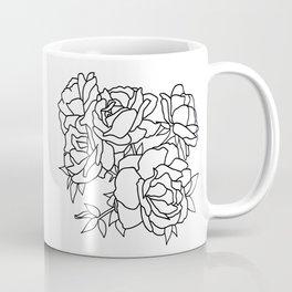 Minimal Flower Cluster Coffee Mug