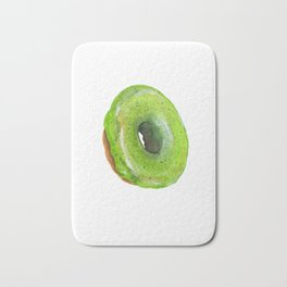 Matcha Glazed Donut Bath Mat