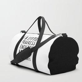 A Little Progress Motivational Quote Duffle Bag