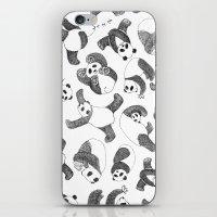 pandas iPhone & iPod Skins featuring Pandas by Karen Vaughan