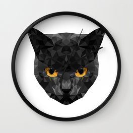 Cat Low Poly Wall Clock