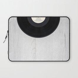 Black vintage vinyl record Laptop Sleeve