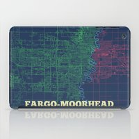 fargo iPad Cases featuring Fargo-Moorhead Street Map by CartoPosters Maps