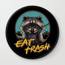 Eat Trash Wall Clock