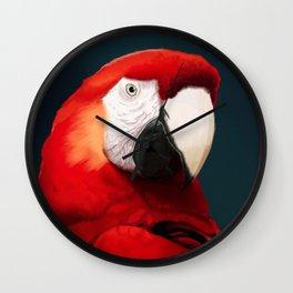 Scarlet Macaw Wall Clock