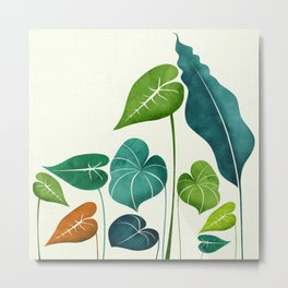 Rainforest Hike / tropical leaf collection Metal Print