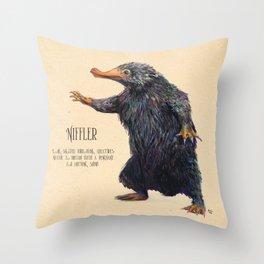 Niffler art Fantastic Beasts Throw Pillow