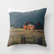 golden ruin Throw Pillow