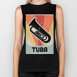 Vintage Style TUBA Poster Biker Tank