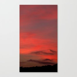 Red Sky 2010 Canvas Print