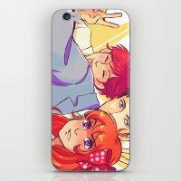 manga iPhone & iPod Skins featuring Manga Nerds by AndytheLemon