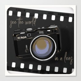 Camera Vintage: see the world in a lens Canvas Print