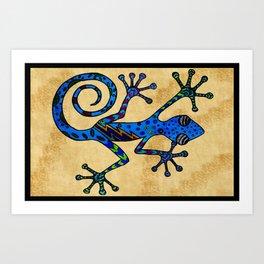 Bowie Gecko Art Print