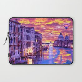 Colorful Abstract Painting of Venice Laptop Sleeve