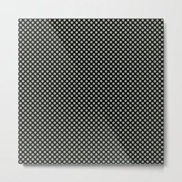 Black and Desert Sage Polka Dots Metal Print