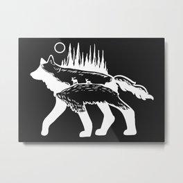 Wolf Forest Deer Camper An Metal Print