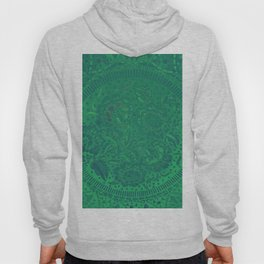 Flower background in green and gradient color, ready for clothes, furniture, cases Hoody