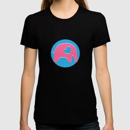 Pink and Blue Elephant T-shirt