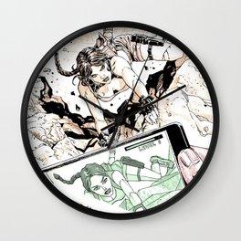 Tomb raider fan art comics style Wall Clock