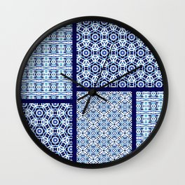 Shibori Ornament Quilt Wall Clock