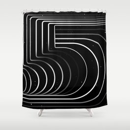 Number «5» Shower Curtain