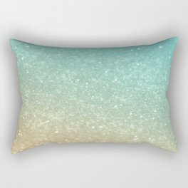 Sparkling Gold Aqua Teal Glitter Glam #1 #shiny #decor #society6 Rectangular Pillow