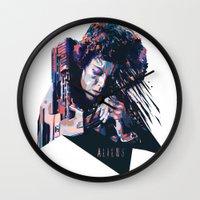 ripley Wall Clocks featuring Ellen Ripley : HARD ACTRESS by mergedvisible