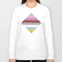 quilt Long Sleeve T-shirts featuring Map Quilt by Project M