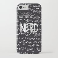 nerd iPhone & iPod Cases featuring Nerd by ALLY COXON