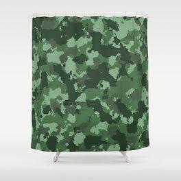 Classic green camo design. Shower Curtain