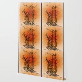 Bong Patent Blueprint Drawings Sepia Wallpaper