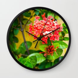 Flower Wall Wall Clock