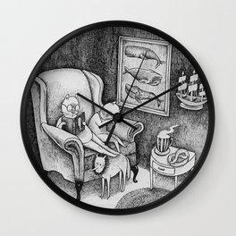Whale Reader Wall Clock
