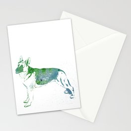 Watercolor German Shepherd Stationery Cards